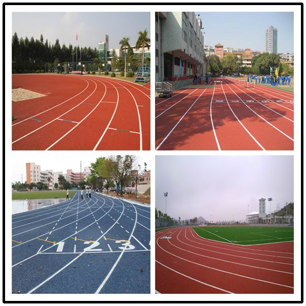 IAAF Approved 400 Meter Jogging Track Flooring International Standard