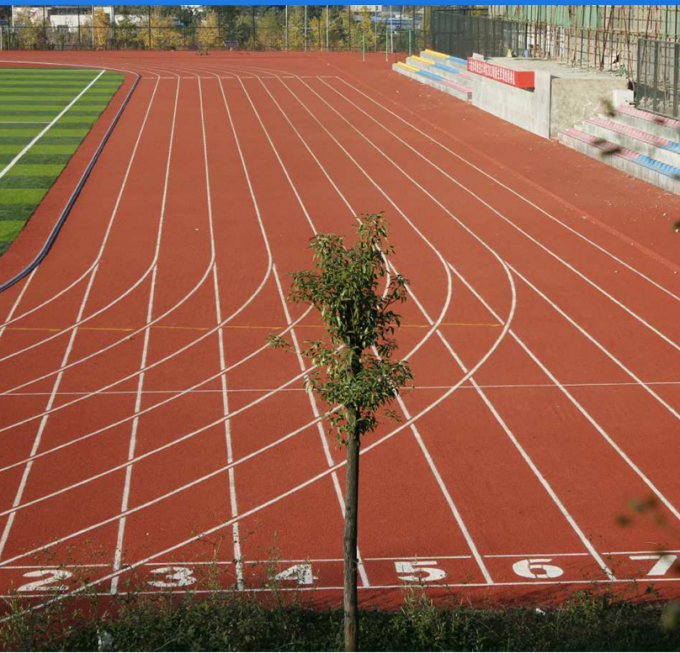 Durable Athletics Running Track Flooring Waterproof Environmental Friendly