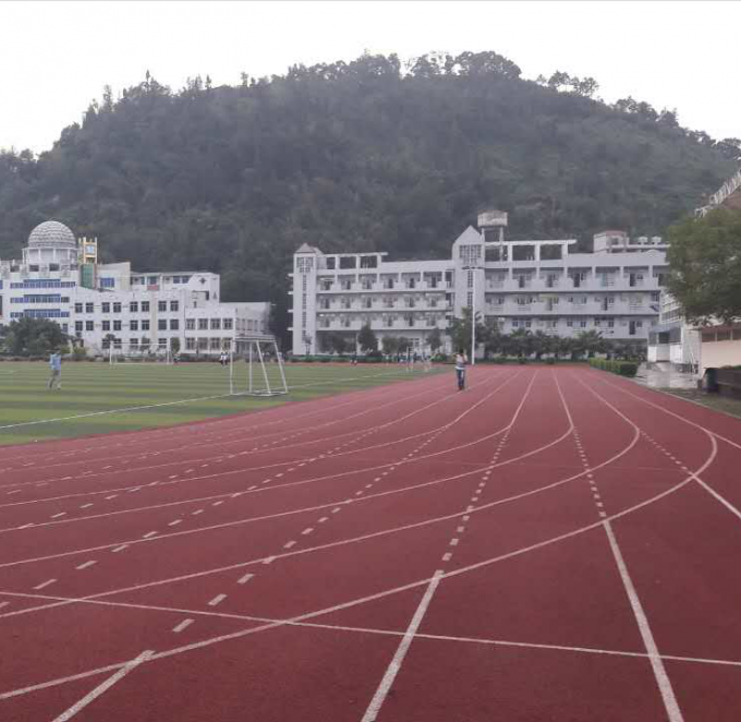 High School Athletic Athletics Running Track Surface 8 Lanes , 13mm Thickness