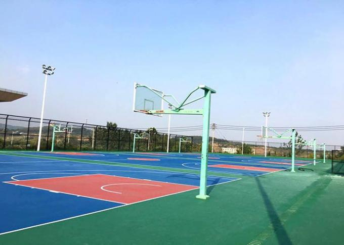 Anti Slip Elastic Synthetic Basketball Court Flooring For International Match