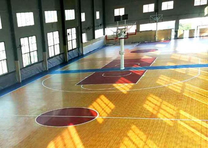 Non Toxic Fadeless Multifunctional Sport Court Rubber Flooring Customized Color