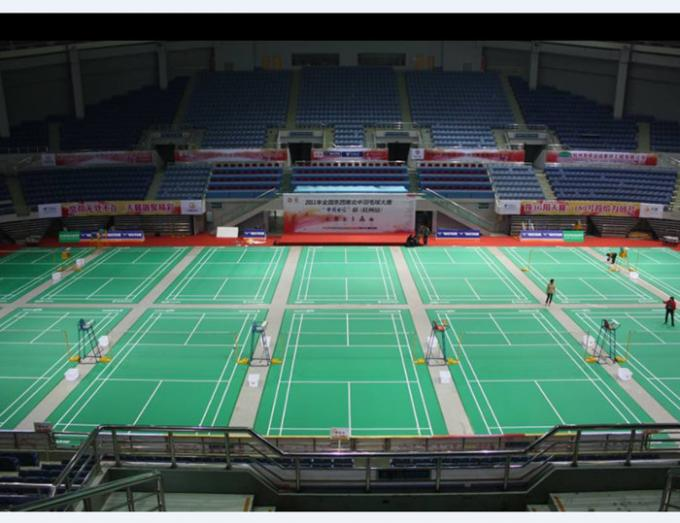 Silicon PU Material Badminton Sports Floor / Indoor And Outdoor Badminton Court