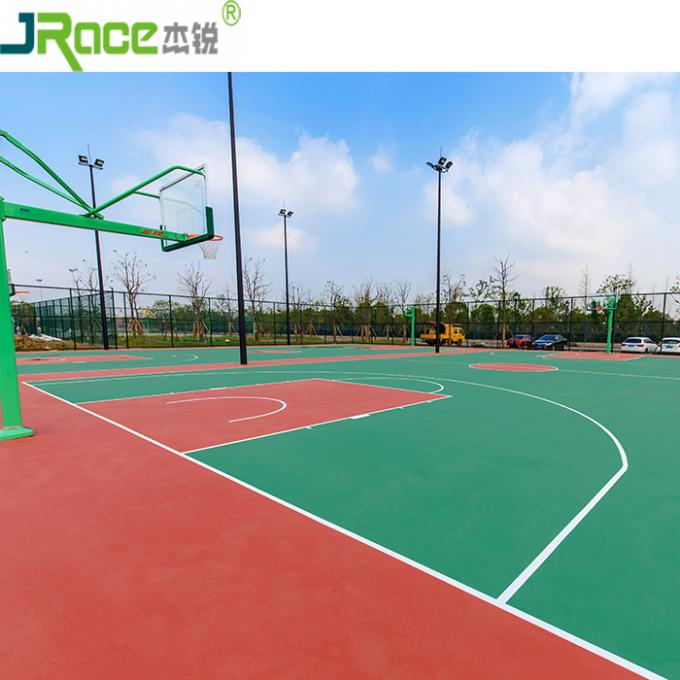 Eco - friendly Anti - slip Basketball Sport Court 3 - 8 mm Thickness