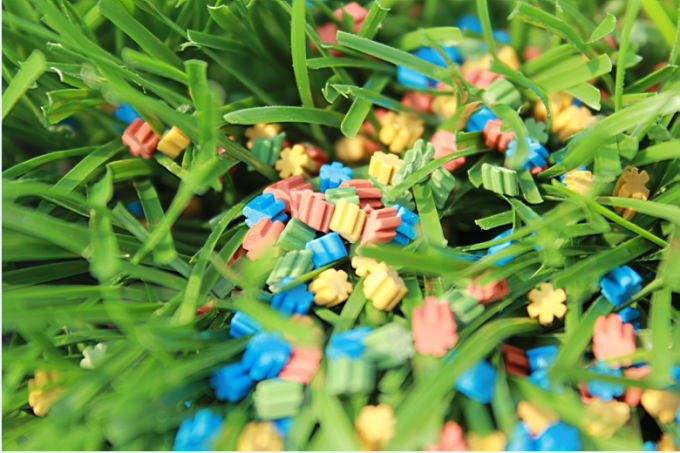 Recycle TPE granules For Artificial Grass Synthetic Grass Infilling Outdoor Sports Field