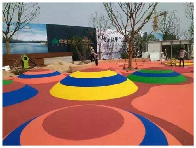 Colorful Granules EPDM Rubber Flooring For Kindergarten And  Children Playground