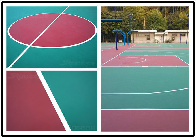 SPU 3 - 7 mm Thickness Basketball Sport Court For All Year Round