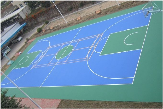 Easy Using Color Customized Tennis Court Surface For Multi-functional Silicone PU Materials